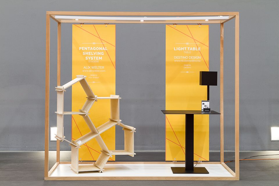 Interesting design for a small space. #exhibit #booth #tradeshow ...