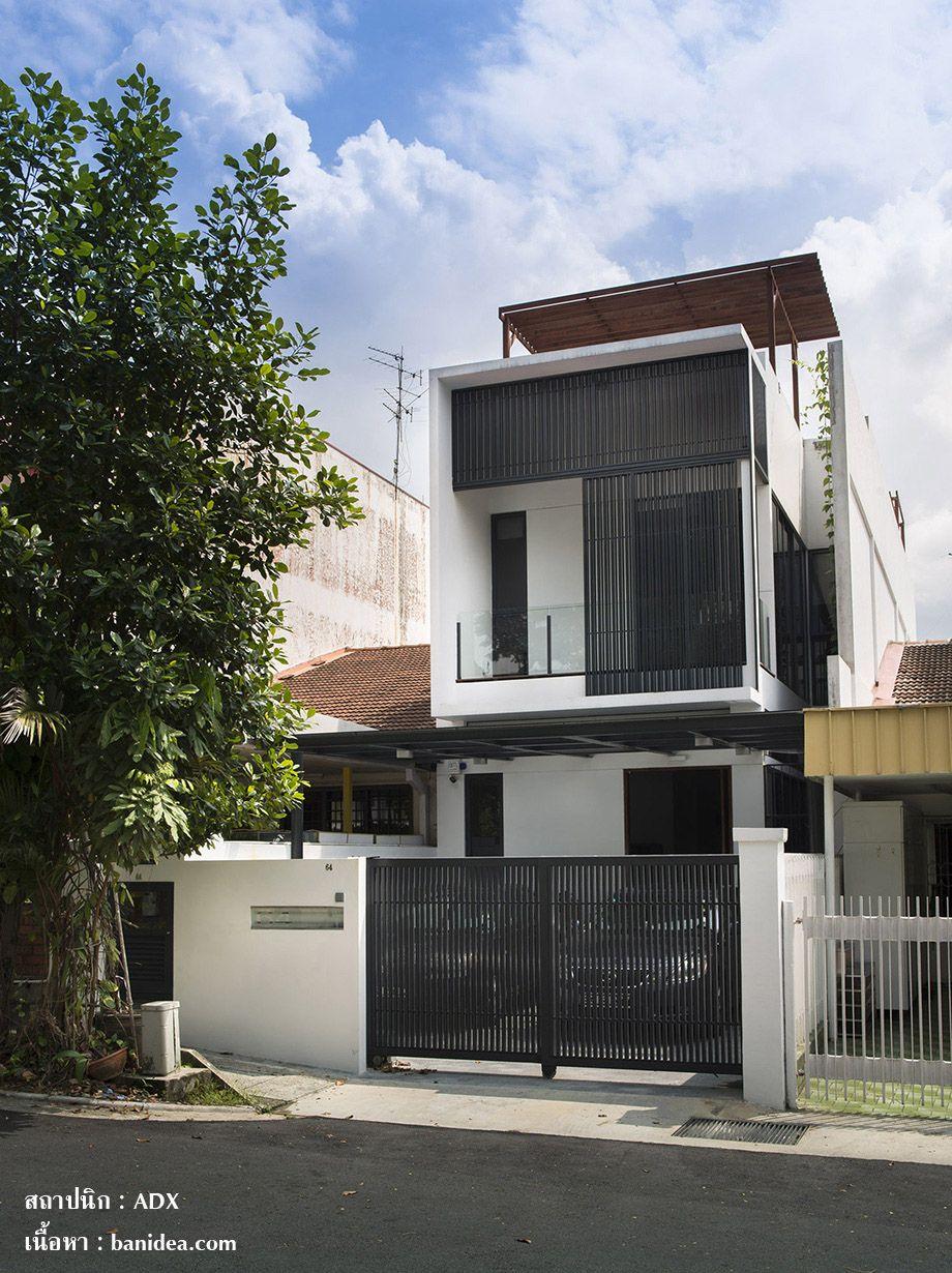 ร โนเวทห องแถวช นเด ยว เป นทาวน โฮมเท ๆ 3 ช น บ านไอเด ย แบบบ าน ตกแต ง บ าน เว บไซต เพ อบ านค ณ Terrace House Exterior Facade House Singapore House