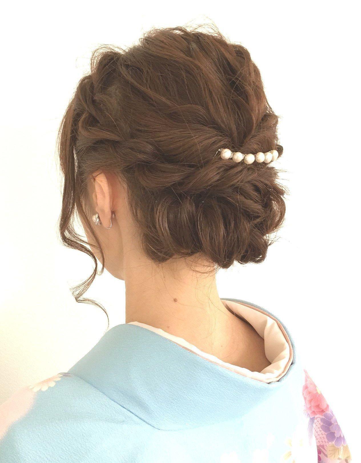 お呼ばれ結婚式での和装に似合う髪型画像30選 HOW TO MARRY , 着物 ヘアスタイル 結婚式