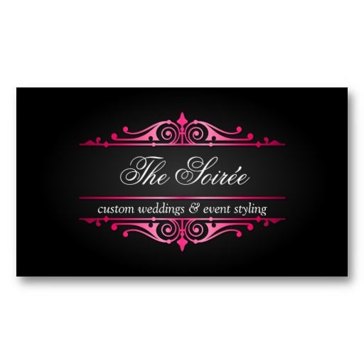 Luxury Event Planner Business Card Zazzle Corporate