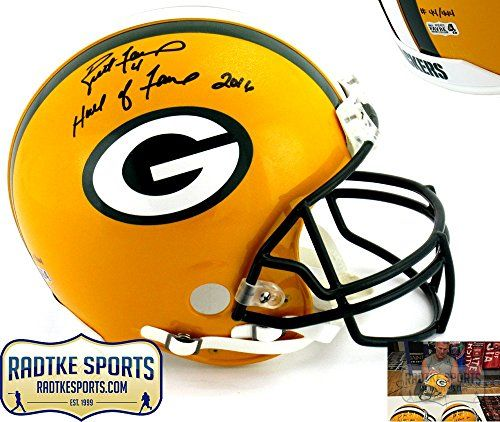 e6f296116 Brett Favre Autographed Signed Green Bay Packers Riddell Authentic NFL Helmet  with