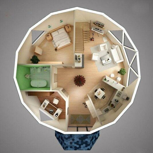 Casa domo domos en 2019 casa domo casas y casa geodesica - Casas geodesicas ...