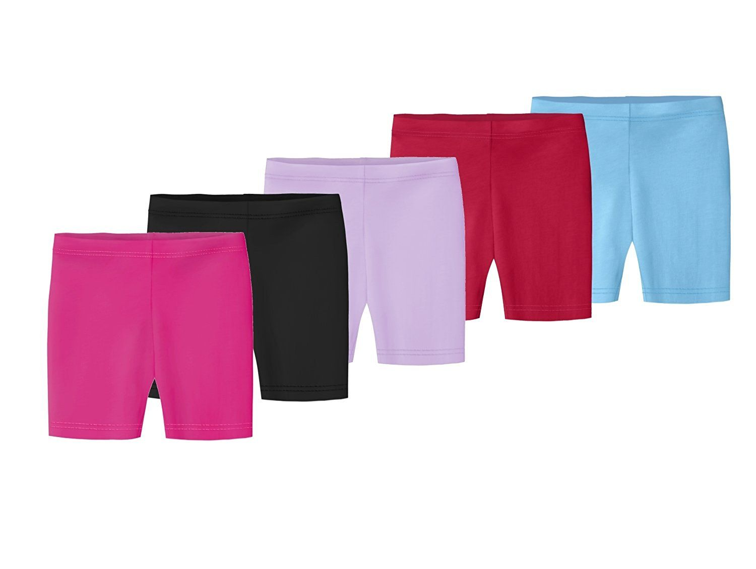 Amazon.com: City Threads Girls' 100% Cotton Bike Shorts For Sports or Under Skirts: Clothing