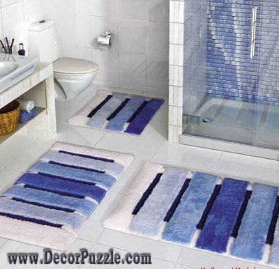 Bathroom Rug Sets Blue Rugs, Contemporary Bathroom Rug Sets