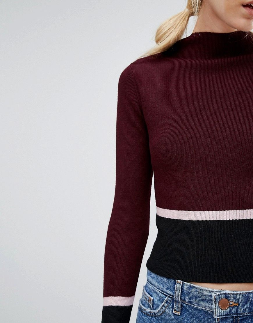 New look petite colour block jumper mode on pinterest color