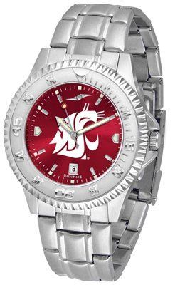 Washington State University Cougars Competitor Anochrome - Steel Band - Men's - Men's College Watches by Sports Memorabilia. $87.08
