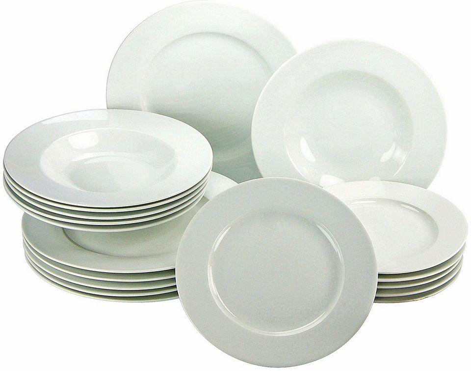CreaTable Teller-Set, rund, Porzellan, 18 Teile Jetzt bestellen ...