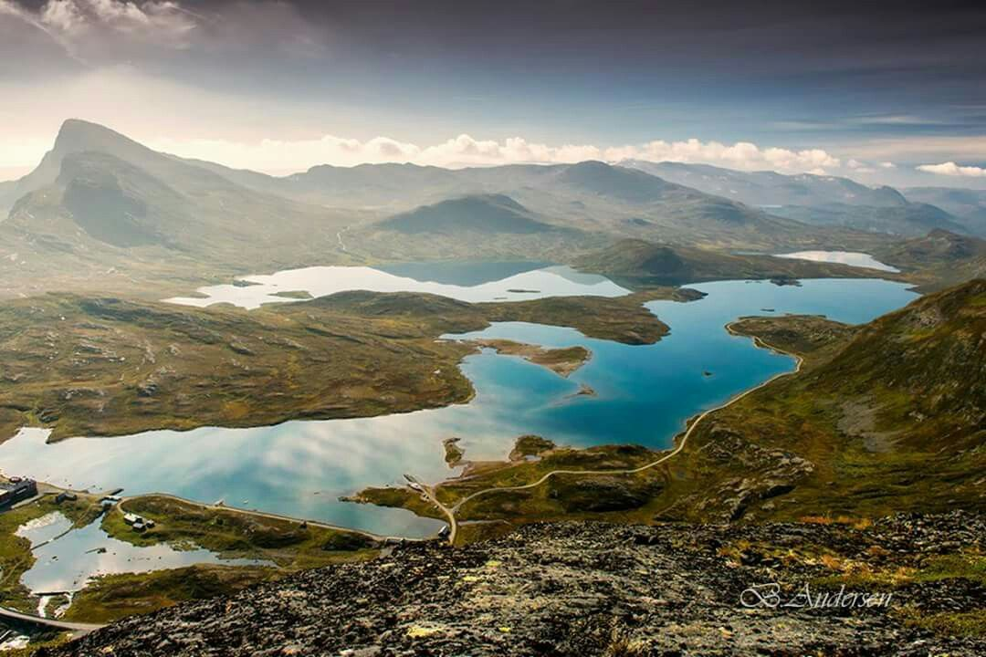 September 2014. Bygdin i Valdres. Photo taken from Synshorn. Photography by©Bjørn Halfdan Andersen‎