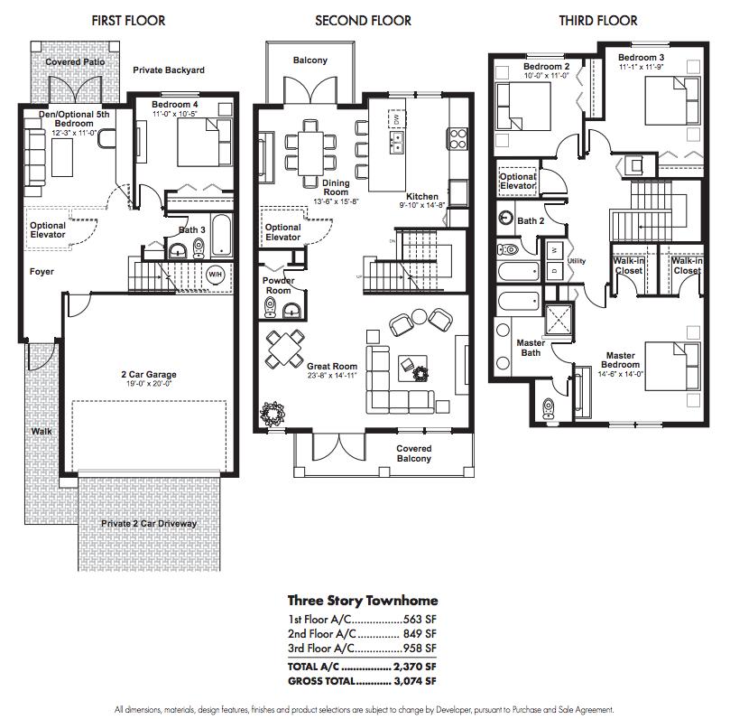 townhouse floor plans | story townhouse floor plans Car ...