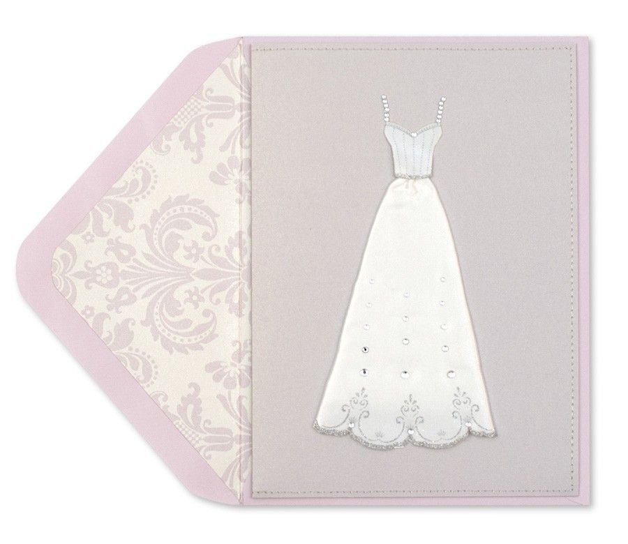 Handmade gown bridal shower card bridal gowns bridal shower cards handmade bridal shower invitations handmade bridal gown bridal shower cards papyrus filmwisefo Images