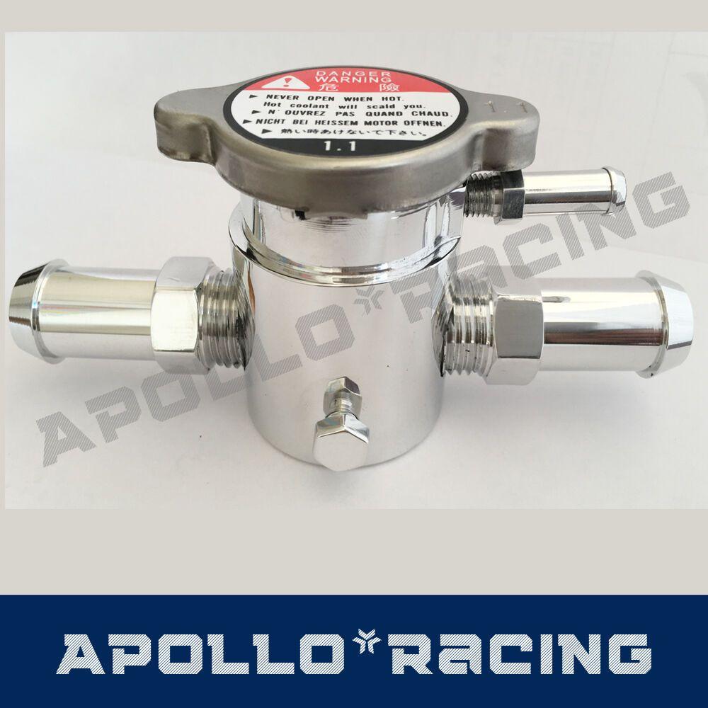 "38mm 1-1//2/"" Alloy Aluminum In Line Radiator Hose Connector Filler Neck Cap"