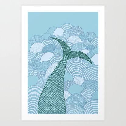 Mermaid Art Print by Anita Ivancenko | Society6