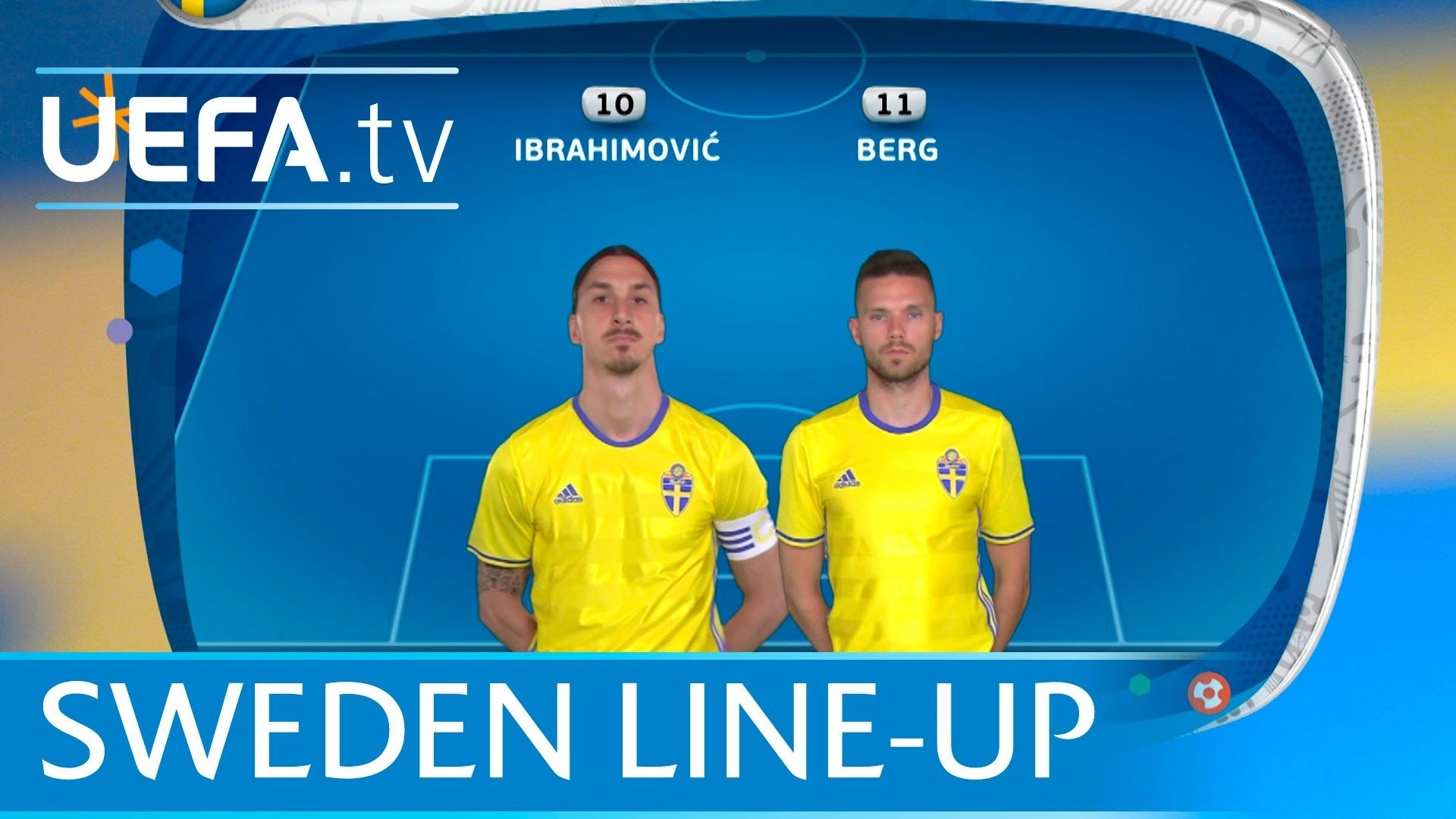 Sweden lineup v Republic of Ireland UEFA EURO 2016