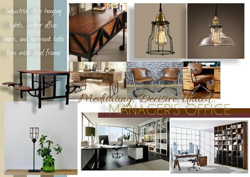 Sampleboard Managersoffice Interior Design Boards Industrial Office Design Office Design Inspiration