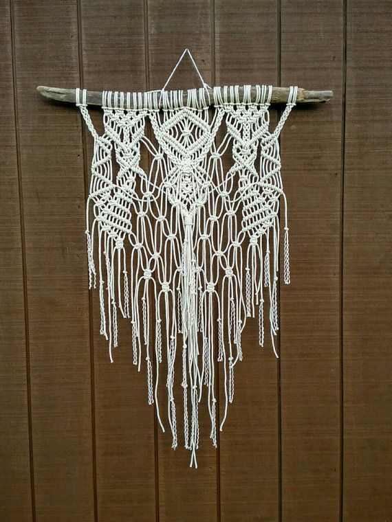 SALE / Large Macrame Wall Hanging / Modern by WallHuggerHandmade