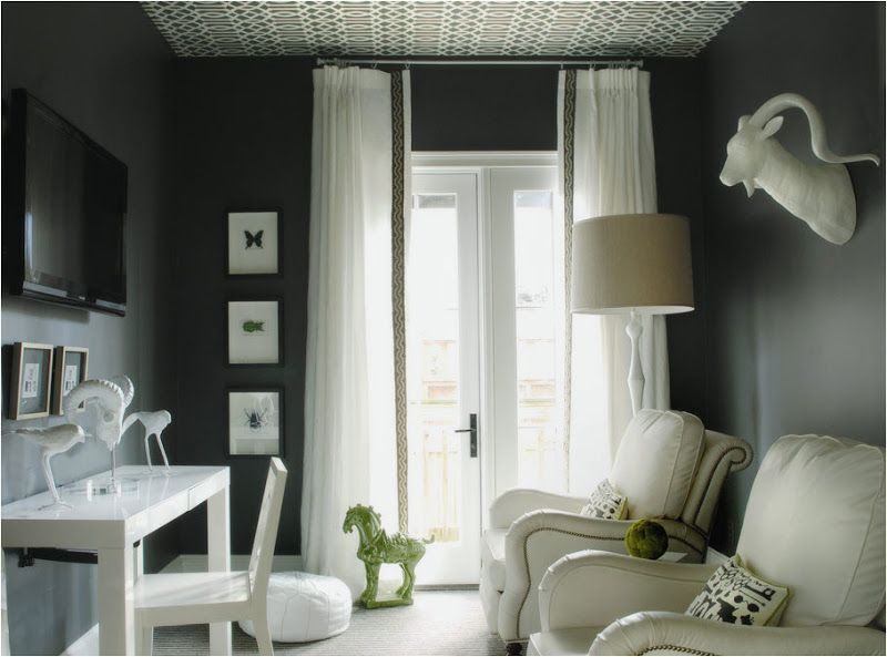 Color Watch Styling With Grey All The Way Cococozy Dark Grey Walls Grey Walls Home