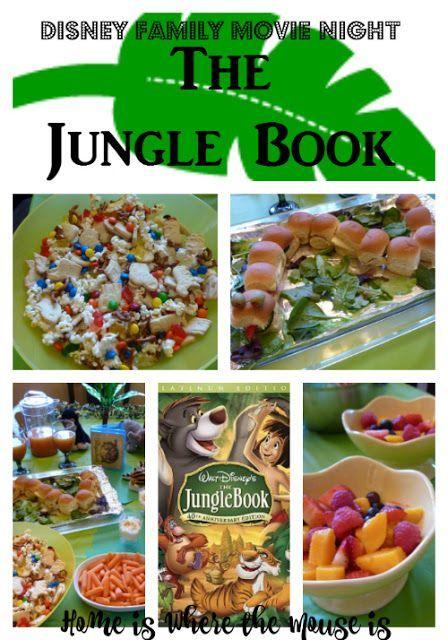 Disney Family Movie Night The Jungle Book Disney Movie Night Dinner Disney Family Movies Movie Night Food