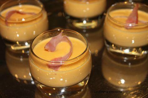 Crème de patate douce, bacon grillé - La Closerie Crevouline #verrinessalees