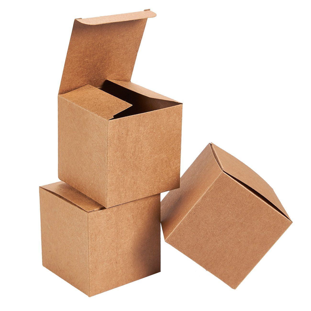 Kraft Gift Boxes 50 Pack Gift Wrapping Brown Paper Boxes With Lids Kraft Boxes For Party Supplies Cupc Gift Boxes With Lids Kraft Gift Boxes Paper Gift Box
