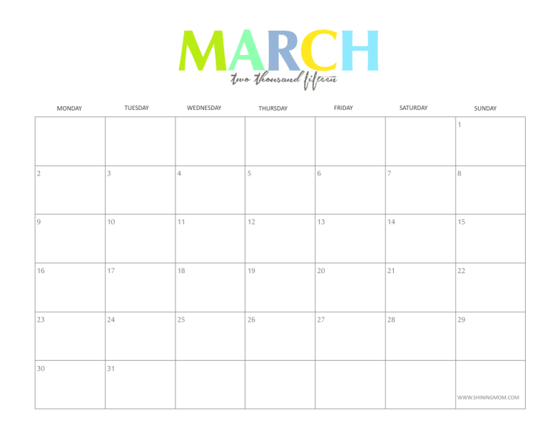 free printable march 2015 calendarpng 768593