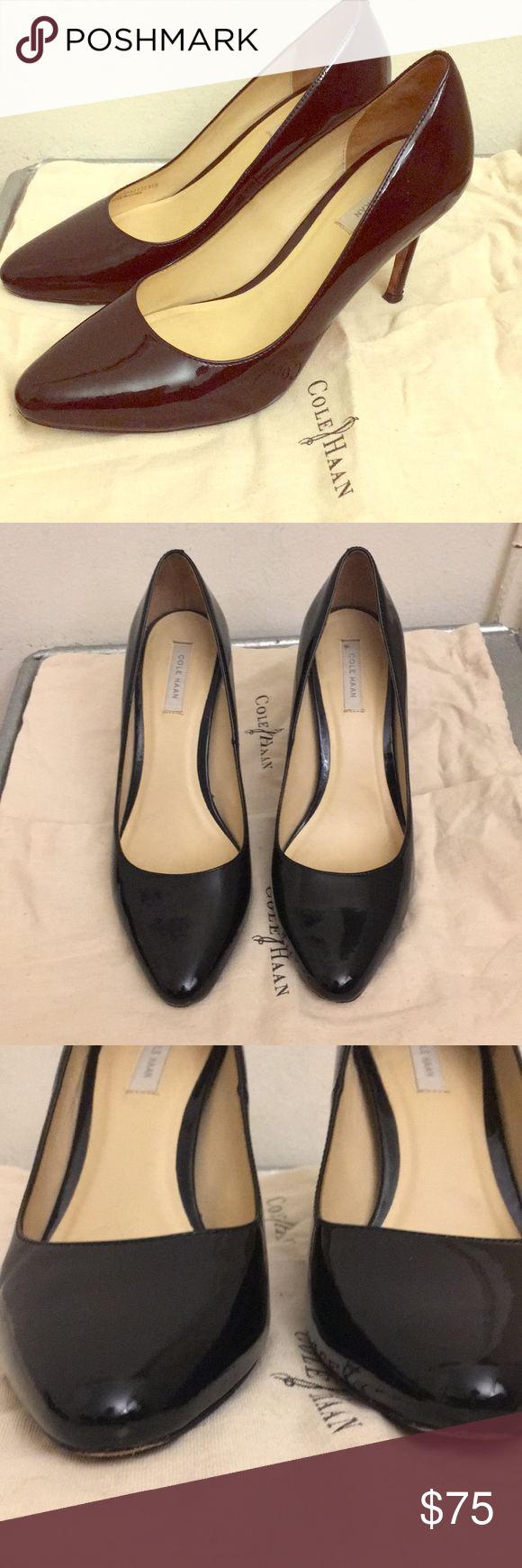 Cole Haan Bethany black patent pumps 6.5 Lovely (and COMFORTABLE!) black  patent pumps