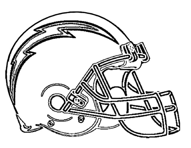 Football San Diego Chargers Coloring Page Kids Coloring Pages