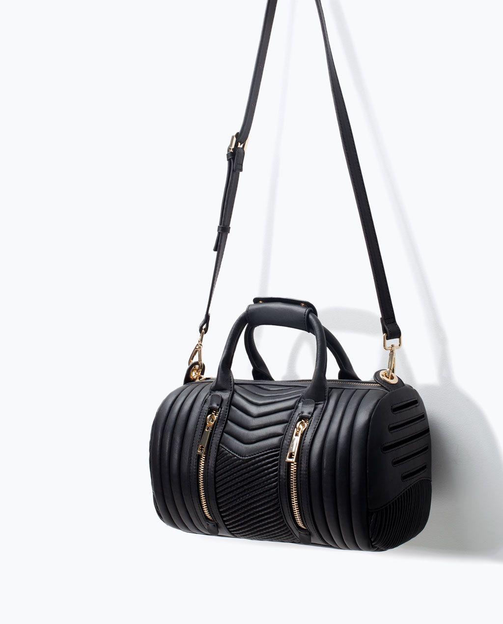 cf2d45337b QUILTED BOWLING BAG-Hand bags-Handbags-WOMAN   ZARA United States ...