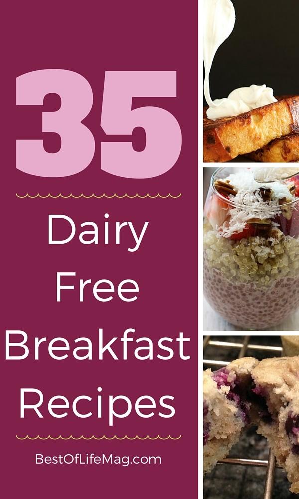 35 No Dairy Diet Breakfast Recipes #dairyfreesmoothie