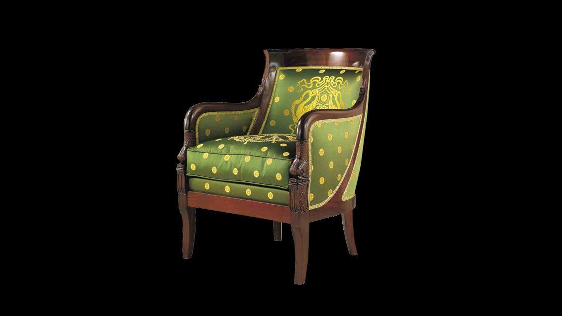 berg re en gondole de style empire avec les bouts d accotoir en col de cygne ail en bois de. Black Bedroom Furniture Sets. Home Design Ideas