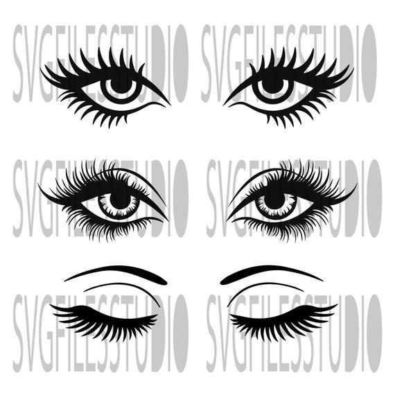 Bundle Svg T Shirt Svg Eyelashes Svg File Makeup Svg File Eye