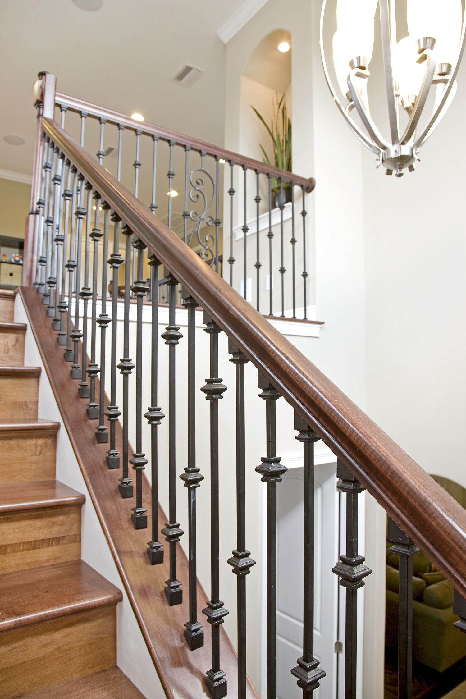 Bakerfield Luxury Homes Wrought Iron Stairs Bakerfield