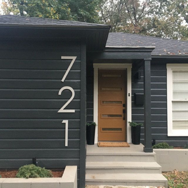 16 Inch Modern House Numbers Letters In 2020 House Numbers Exterior House Colors House With Porch