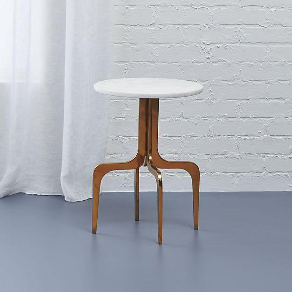 Cb2 Darbuka Brass Coffee Table: Dorset Marble Side Table