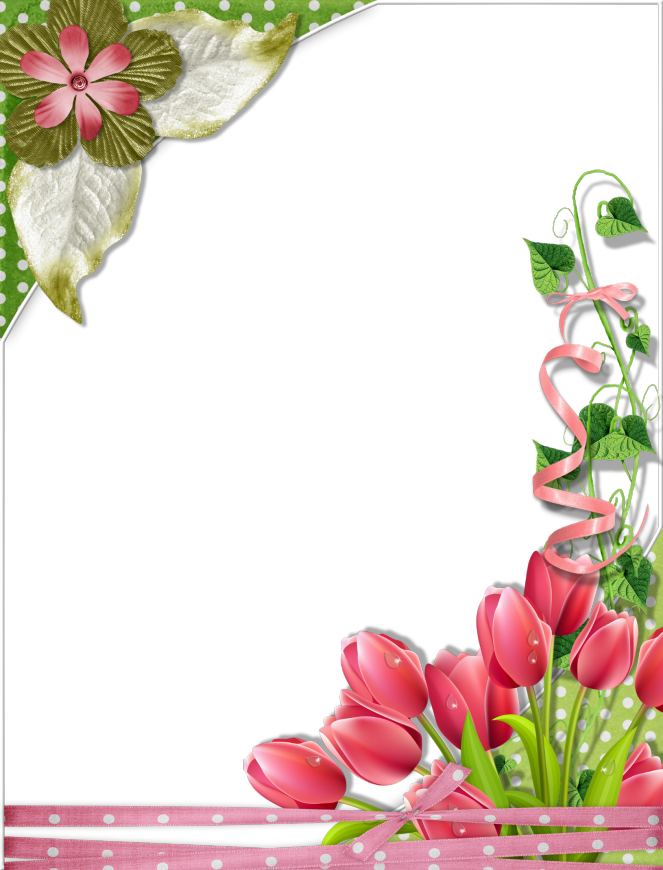 Tulips Frame Marijja 4shared Flower Frame Floral Border Design Flower Border