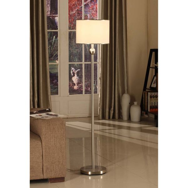 Brushed Nickel Light Modern Floor Lamp Design