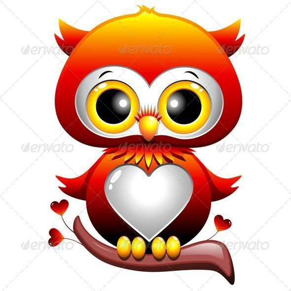 Baby owl love heart cartoon baby owl cartoon owls and owl for A cartoon owl