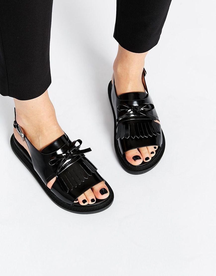 d30dd5136a433 Image 1 of ASOS FANYA Fringe Sandals