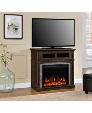 Ameriwood Home Bindy Electric Fireplace Tv Stand For Tvs Up To 37