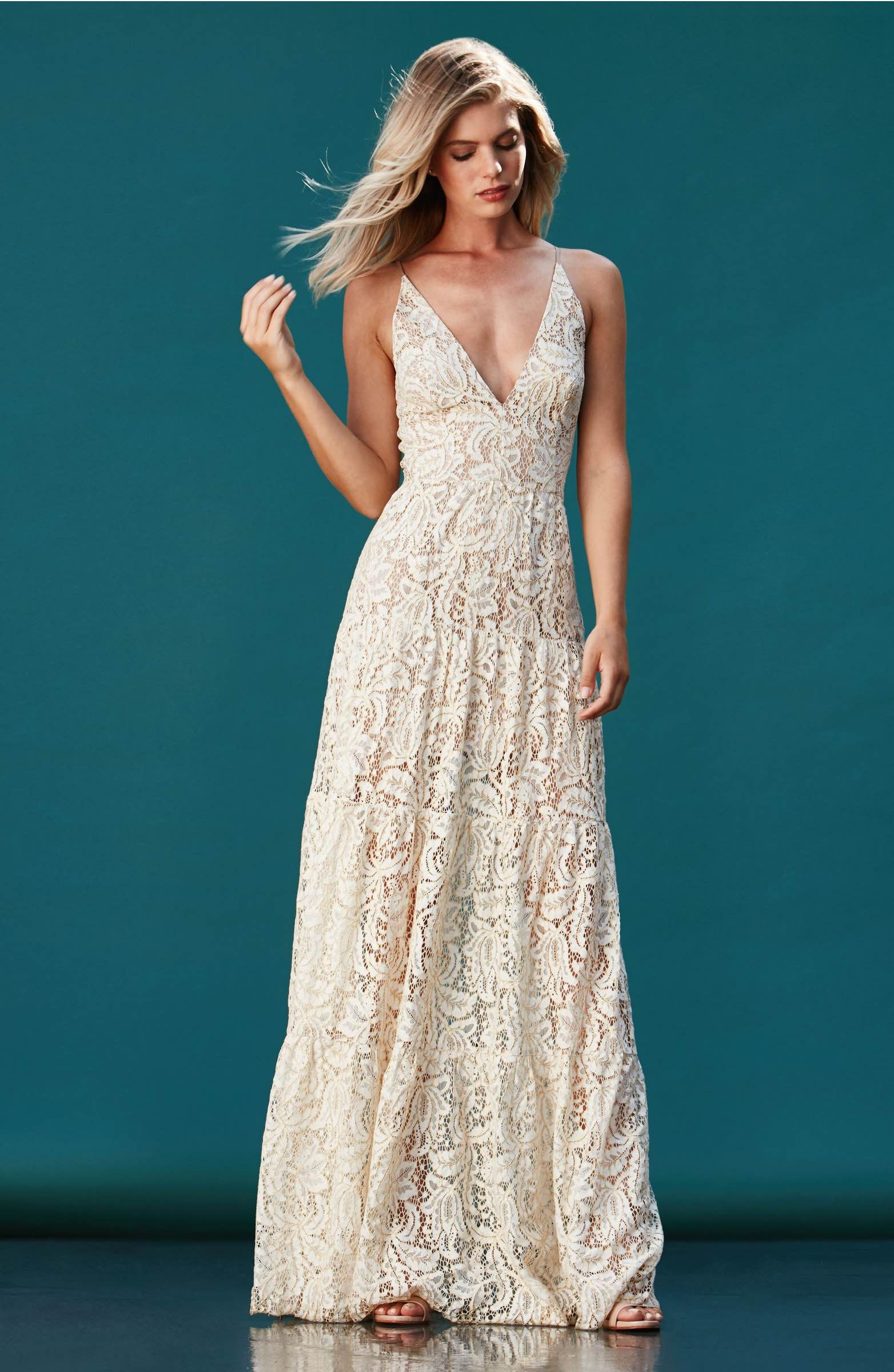 Dress the Population Melina Lace Fit & Flare Maxi Dress #nordstrom ...
