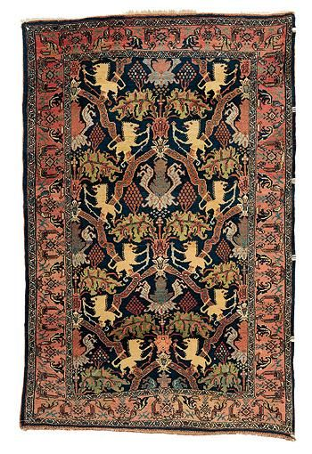 Sotheby S Lion Vine Bijar Rug North