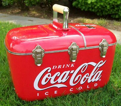nice coca cola am fm radio cd player cooler ice chest pinteres. Black Bedroom Furniture Sets. Home Design Ideas