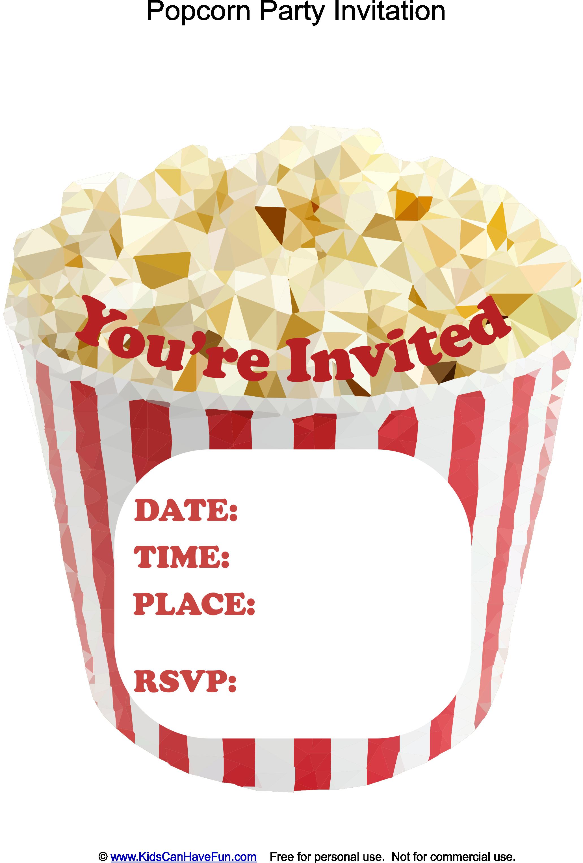 Free popcorn shaped party invitations httpkidscanhavefun free popcorn shaped party invitations httpkidscanhavefunparty cardsm party popcorn invitations filmwisefo