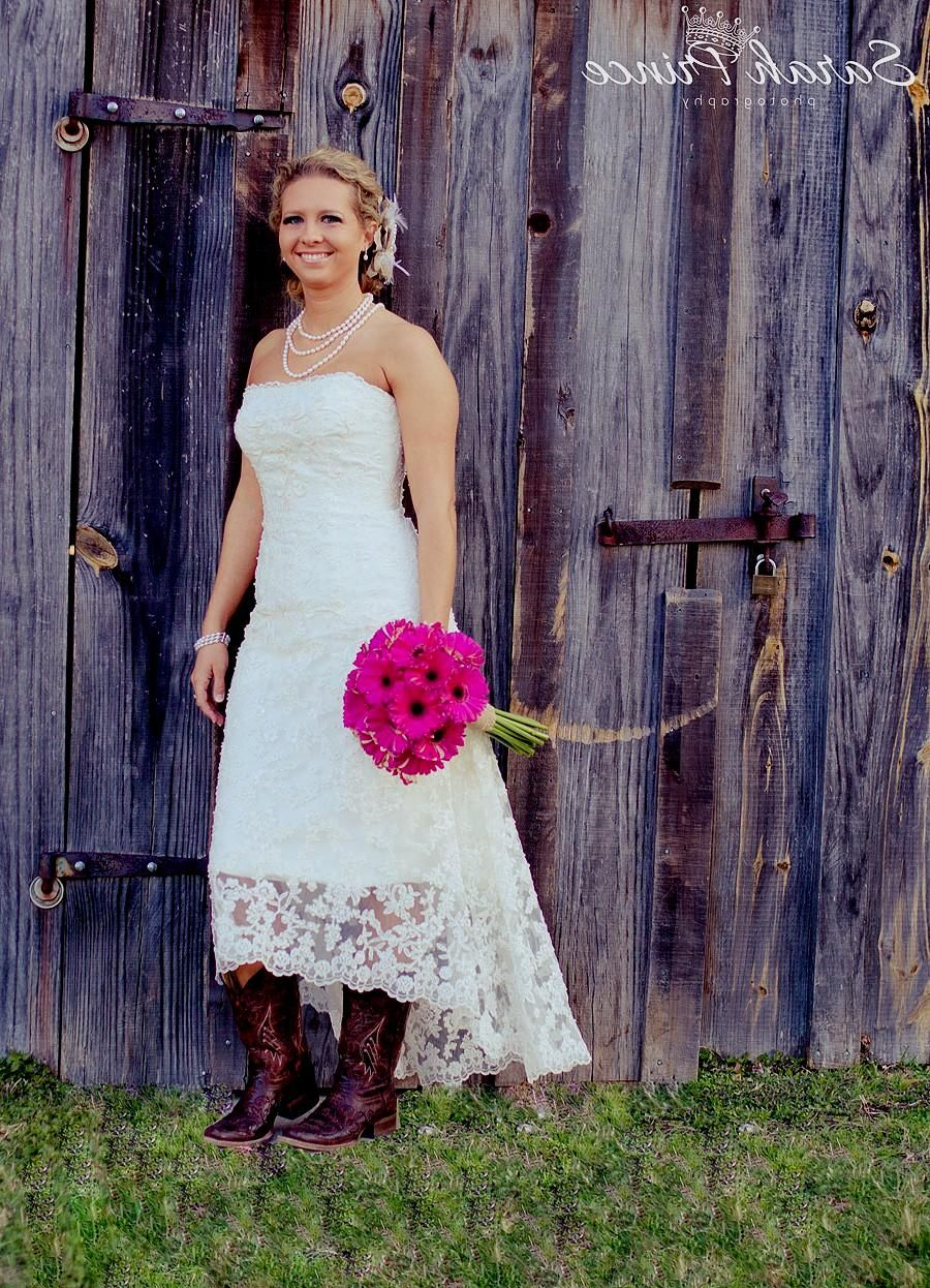 Country Wedding Dresses with Cowboy Boots Best Wedding