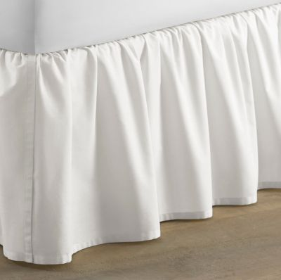 Laura Ashley King Solid Ruffle White Bedskirt Bedding Bed Sizes