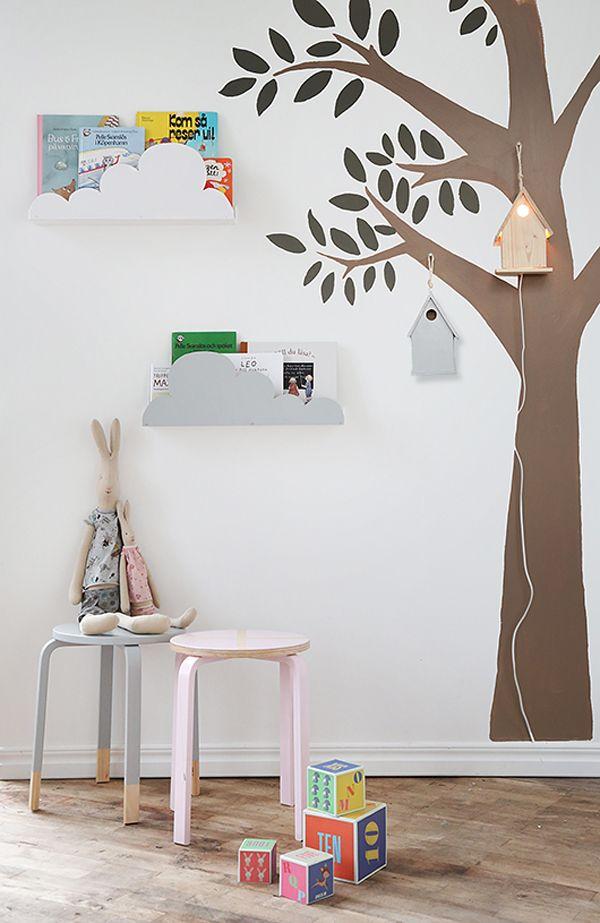 Ikea hacks para ni os estanter as en forma de nubes muebles infantiles pinterest ni os - Ikea estanterias ninos ...