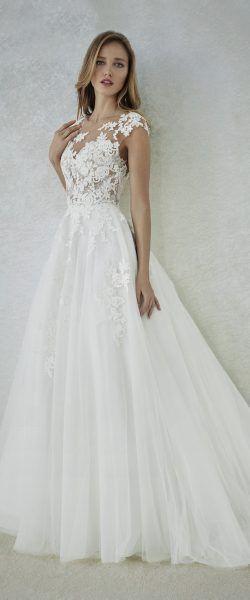 encontrado en Happy Brautmoden vestido de novia elegante, elegante vestido de novia, blanco en …