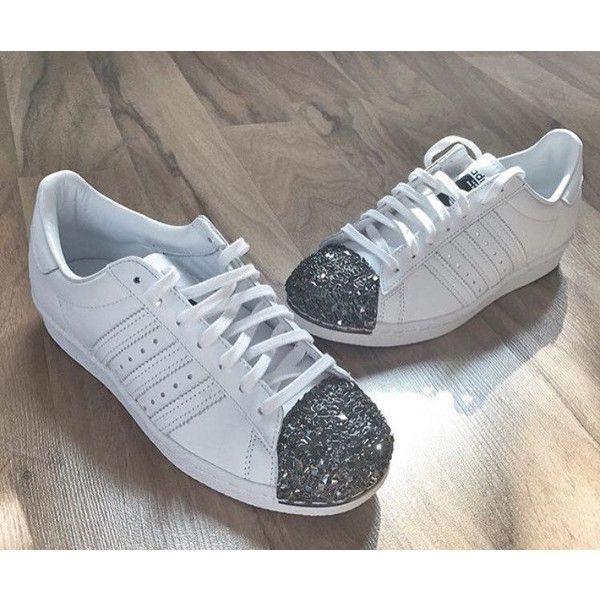L'adidas superstar degli anni '80 in metallo bianco diamante la adidas superstar