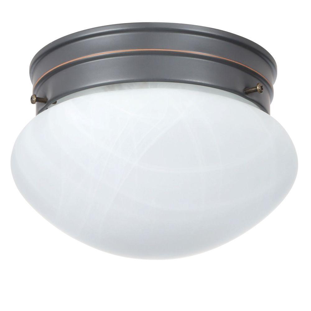 Design House Millbridge 1 Light 7 5 8 In Oil Rubbed Bronze Ceiling Semi Flush Mount Light Fixture 514547 Bronze Ceiling Lights Bedroom Light Fixtures Light Fixtures Flush Mount