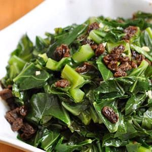 Citrus Collards With Raisins A Soul Food Originated From African