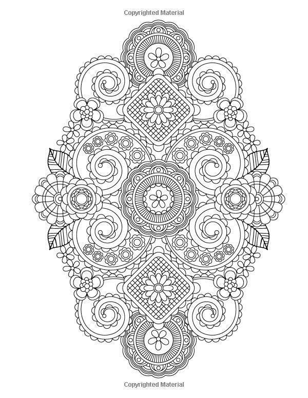 Flower Designs Coloring Book Volume 1 Jenean Morrison 9780615983981 Amazon